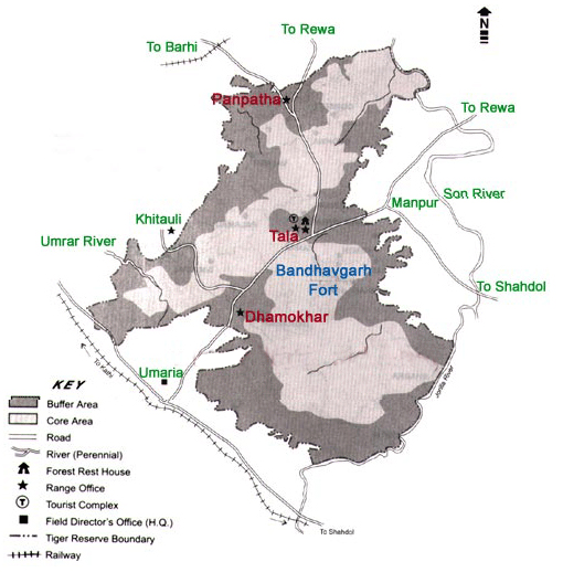 Bandhavgarh National Park Map