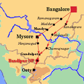 Bandipur National Park Map