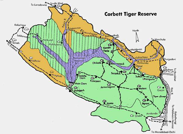 Corbett National Park Map