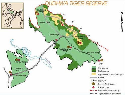 Dudhwa National Park Map