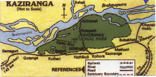 Kaziranga National Park Map