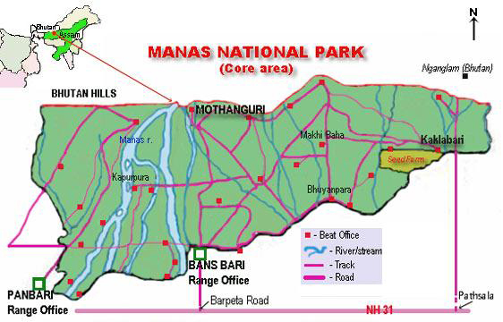 Manas National Park Map
