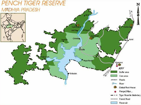 Pench Tiger Reserve Map