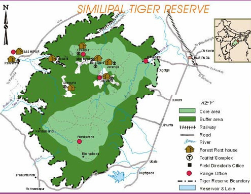 Simlipal Tiger Reserve Map